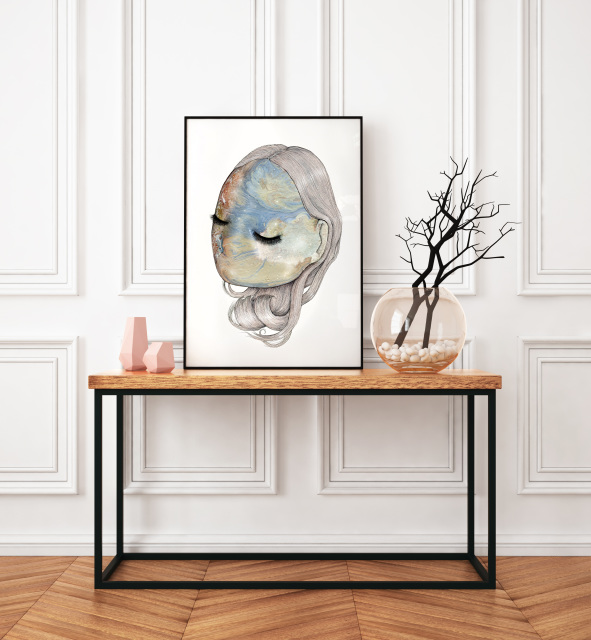 Cream Mirage - Fine art print by Joanna Jensen AARHUSMAKERS