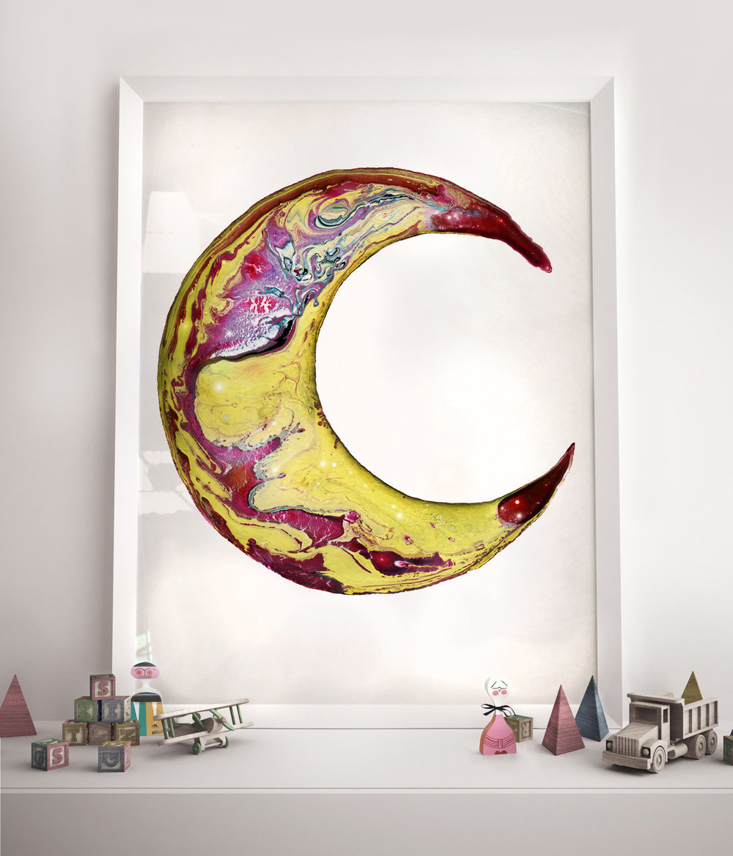 Luna #6 - Limited edition art print by Joanna Jensen AARHUSMAKERS