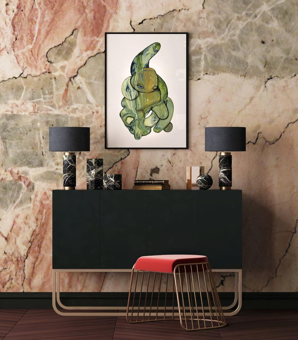 Grønt Kram - Limited edition art print by Joanna Jensen AARHUSMAKERS