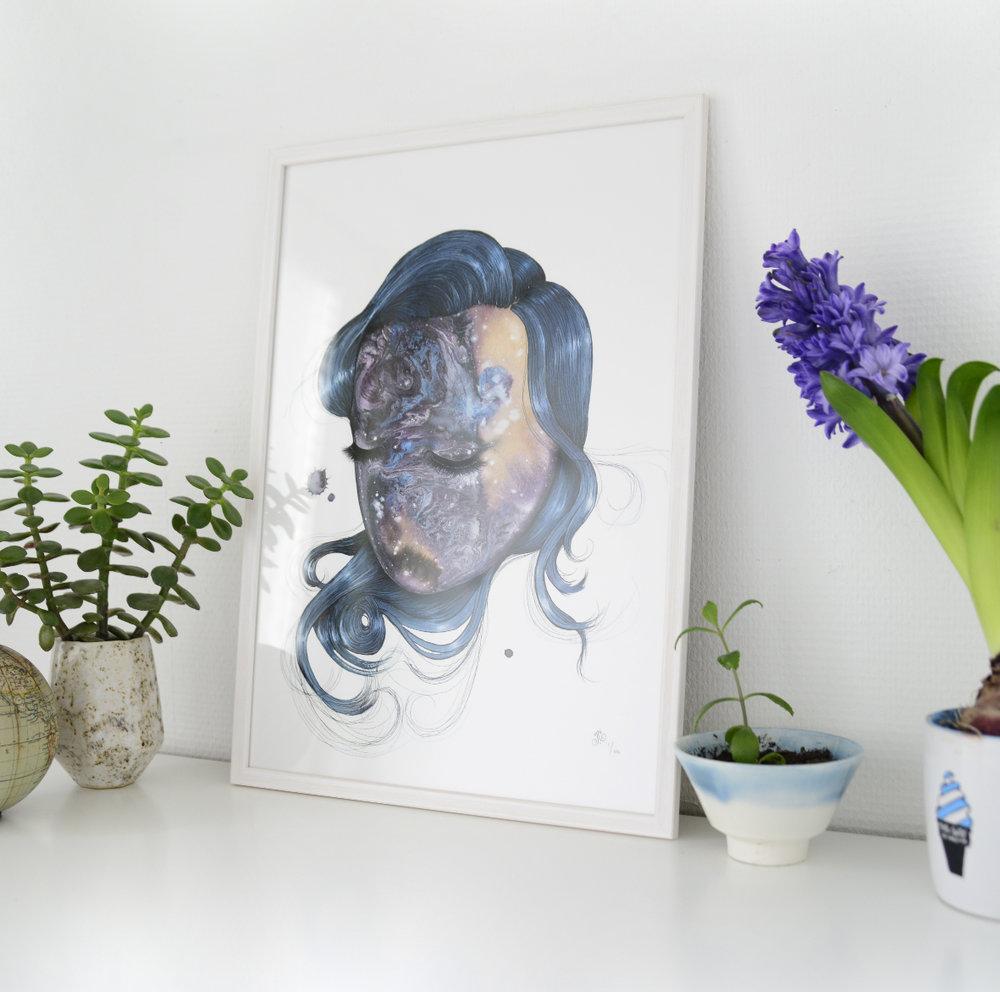 Payne's Grey - Limited edition art print by Joanna Jensen AARHUSMAKERS