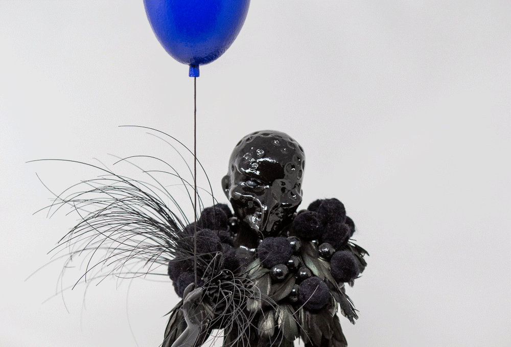 OLAF AND HIS BLUE BALOON - Art doll by Thomas Herman AARHUSMAKERS