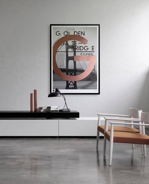 Golden Gate Bridge - Limited edition handmade poster by Torben Buus — AARHUSMAKERS