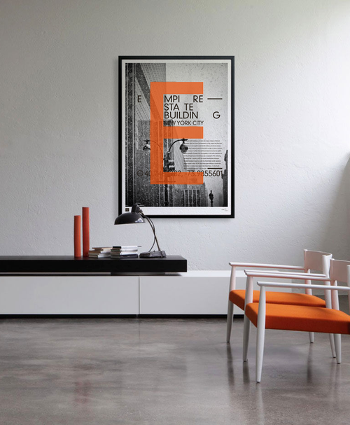 Empire State Building - Limited edition handmade poster by Torben Buus — AARHUSMAKERS