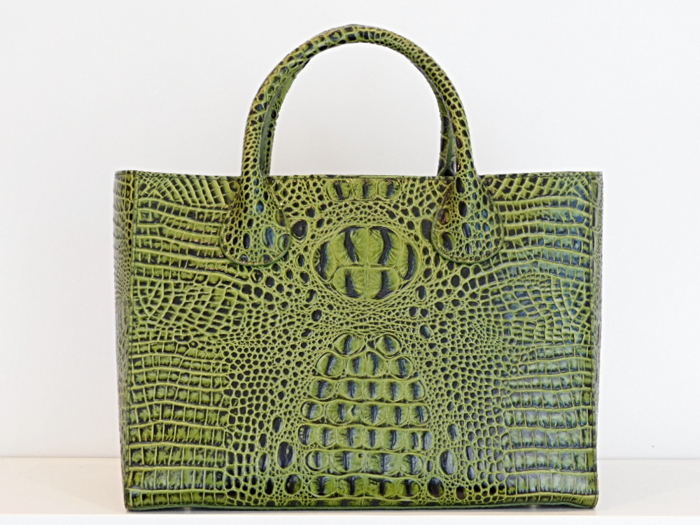 RON DAVID - Med Hunter Croc Emobssed Tote .png