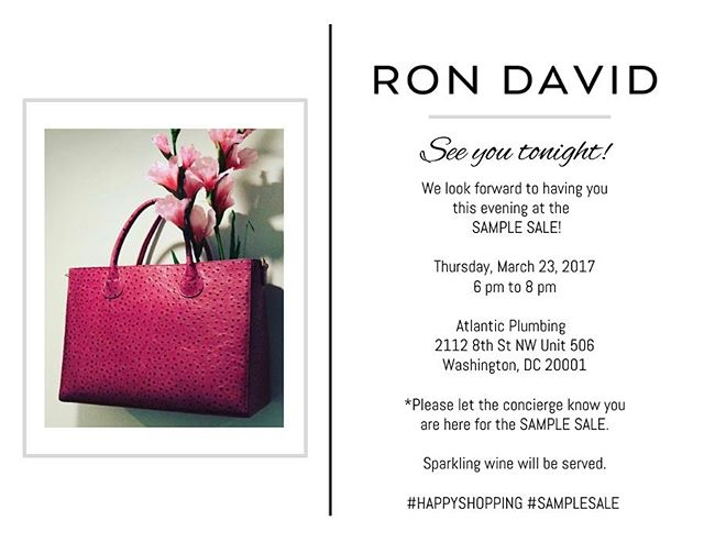 Tonight's the night ! See you at the #samplesale 🎀