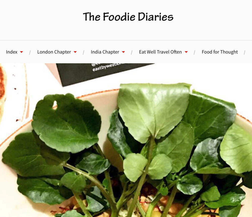 FOODIEDIARIESeastbywestlondon