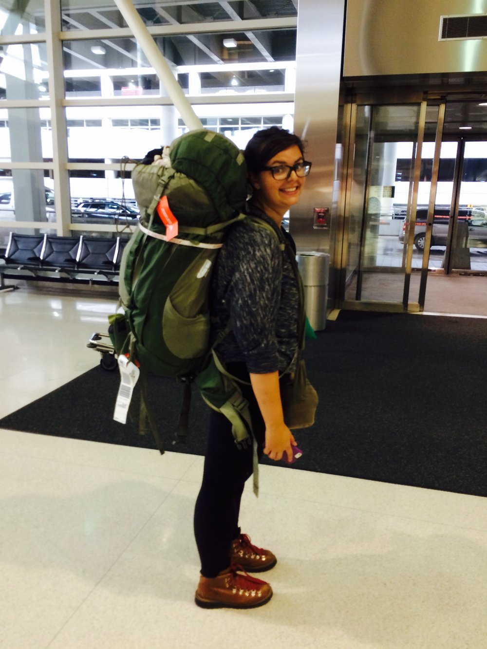 This is the heaviest my backpack has ever been--hitting about 18 kilos (40ish pounds) post India, loaded with delicious tea and spices.