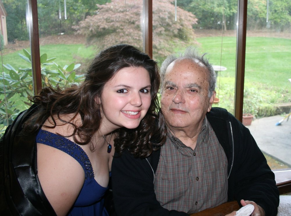 My Abuelo Augusto and I in Fall 2008.