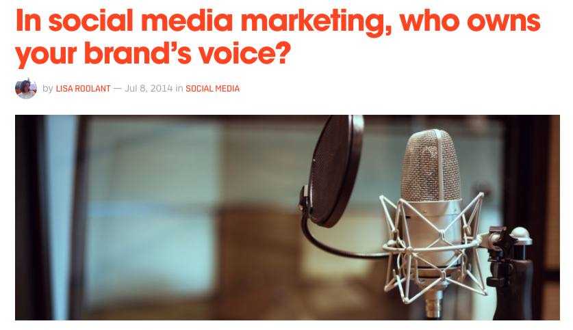 What does it take to drive a human voice behind a brand on social media, and who owns that persona?  Read more on The Next Web.
