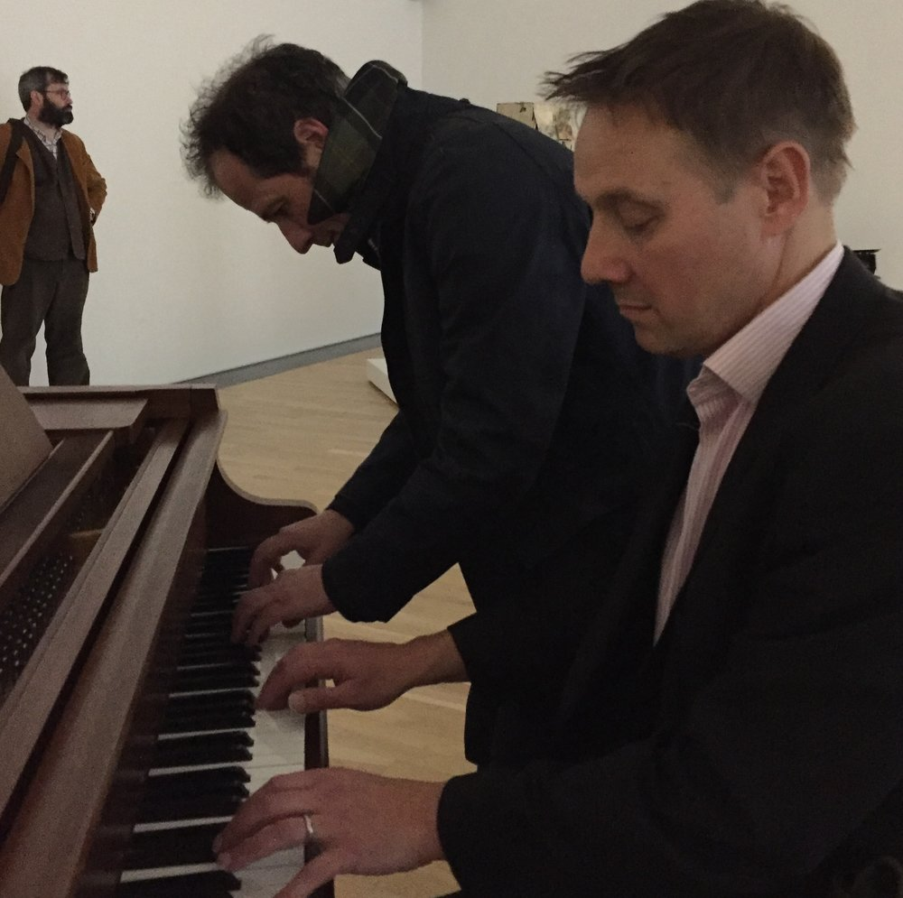 Parry & Glynn at the piano in the National Museum of Wales