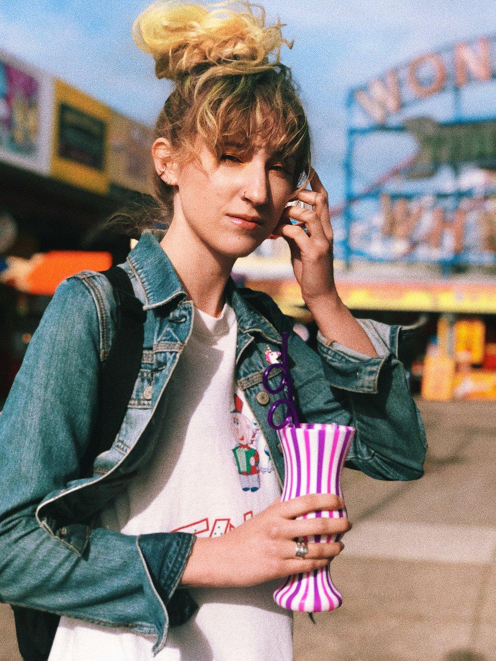 Hannah Coney Island Portrait