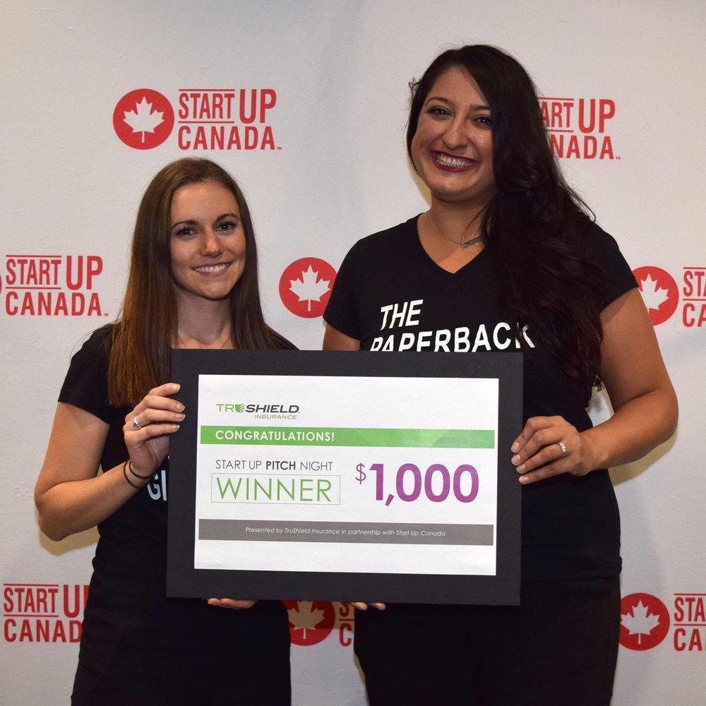 The winning pitch! Pitching the Milspouse Collective at the StartUp Ottawa Valley Pitch Night.
