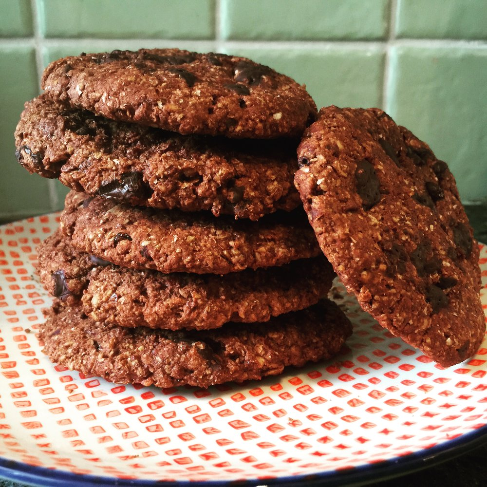 Vegan double chocolate cookies recipe