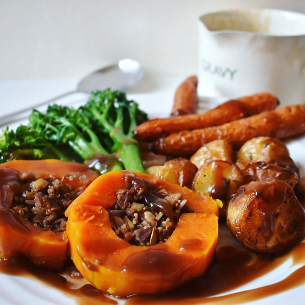 Vegan stuffed squash christmas recipe