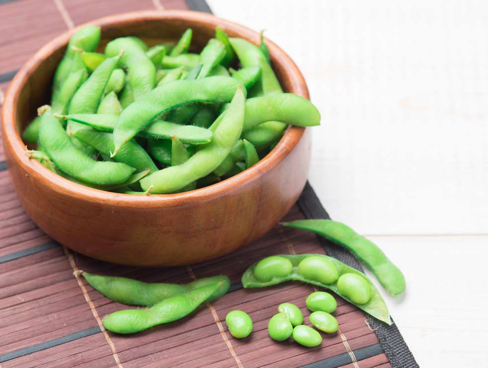 Vegan nutrition - soy beans are packed with protein and are low in fat