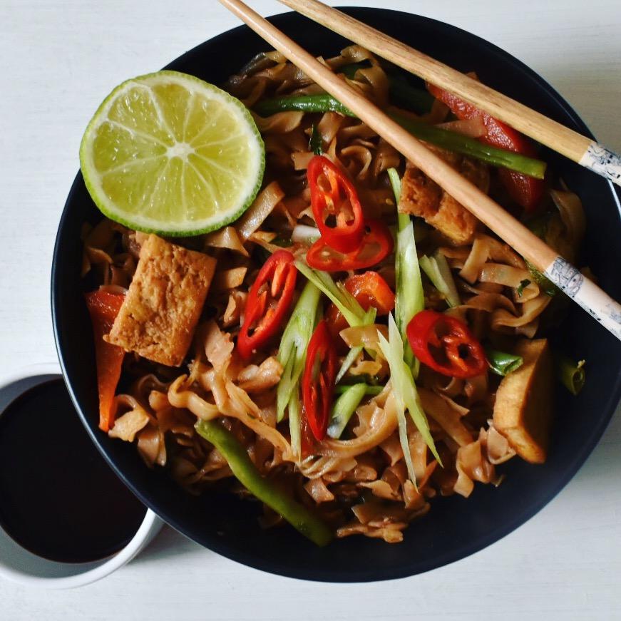 Vegan tofu pad Thai recipe