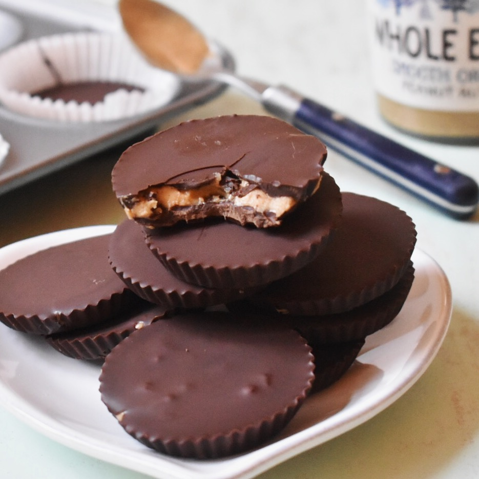 Vegan reese's chocolate and peanut butter cups recipe