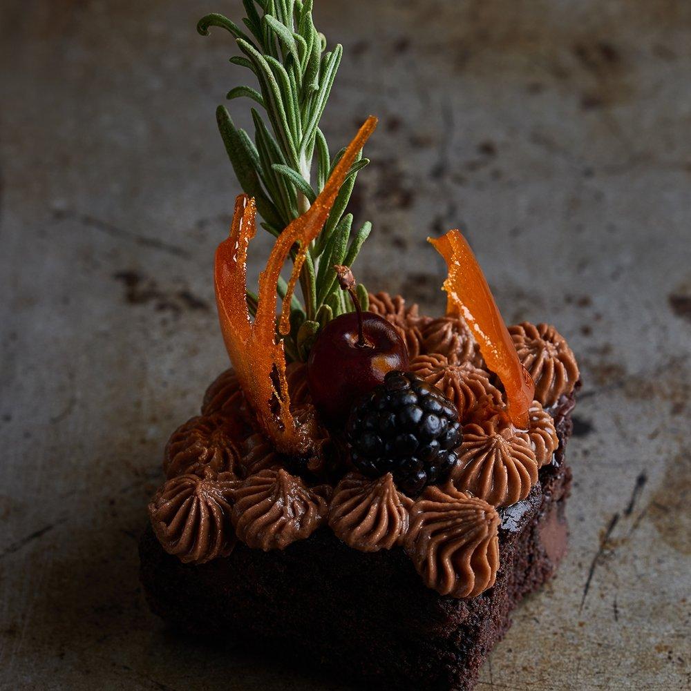 Lele's vegan patisserie vegan chocolate brownie