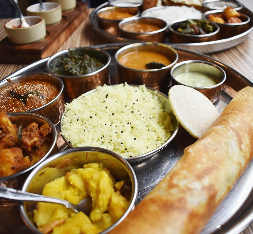 Indian Temptation bath vegetarian vegan curry thali food restaurant plant based