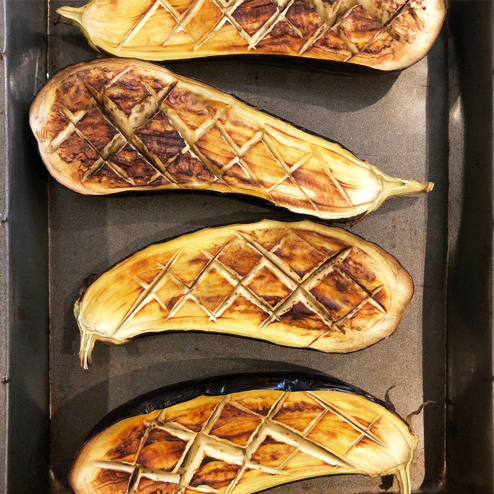 Vegan aubergine eggplant recipe imam bayildi healthy turkish food