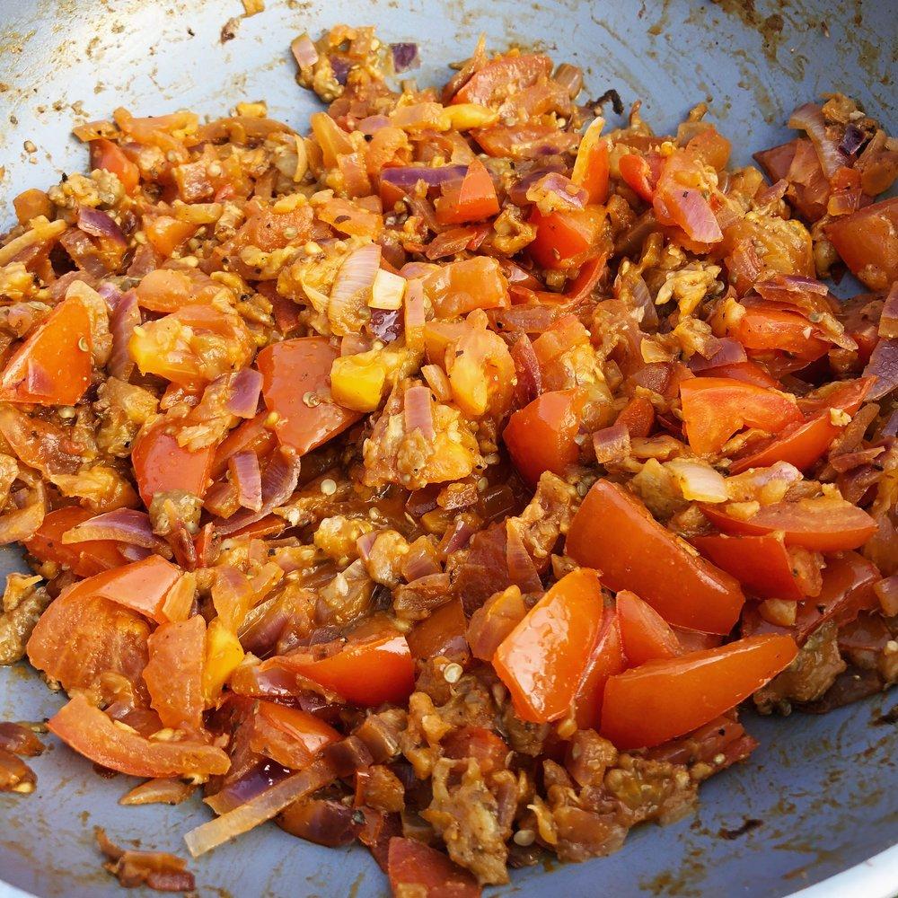 Vegan imam bayildi recipe aubergine eggplant healthy turkish food