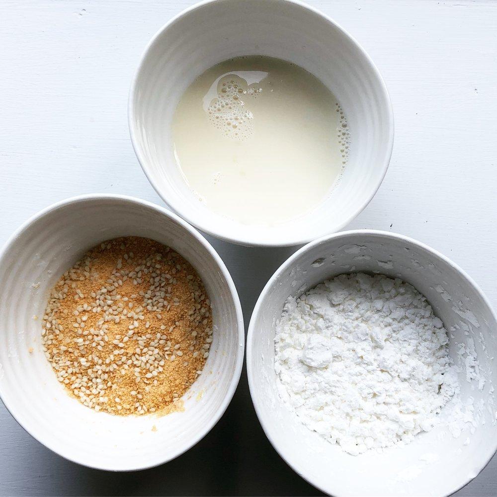 Vegan crispy sesame coated baked tofu recipe healthy vegetarian oil free