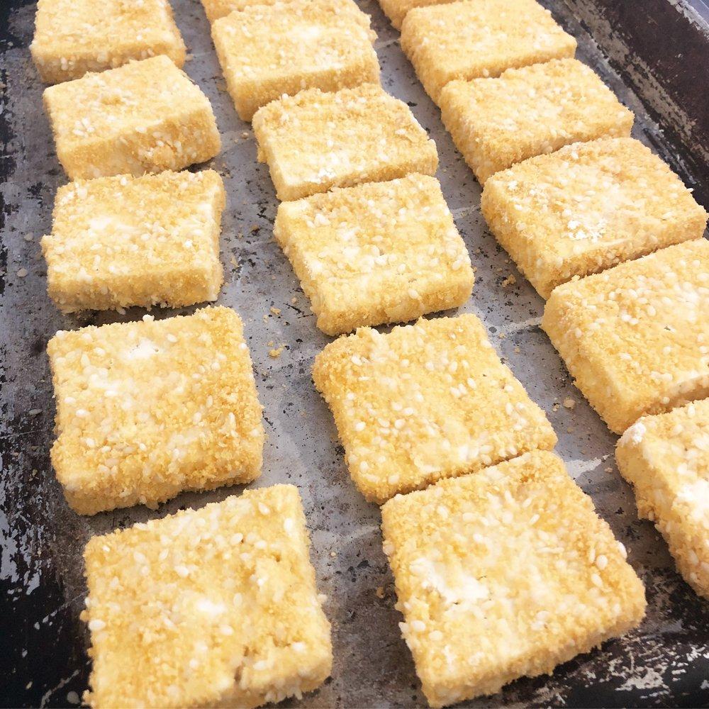 the best vegan crispy sesame coated baked tofu recipe healthy vegetarian