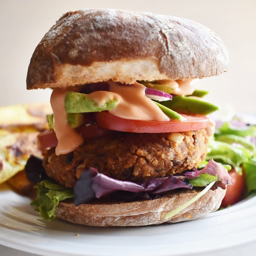 This vegan grillable veggie burger bbq recipe is plant based and full of healthy protein