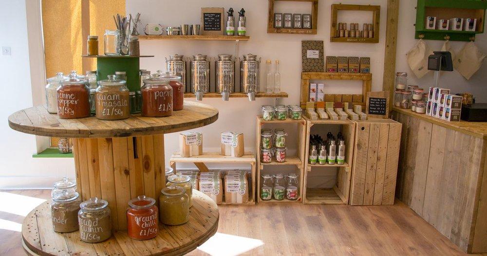 Zero Green Bristol plastic-free zero waste grocery shop products