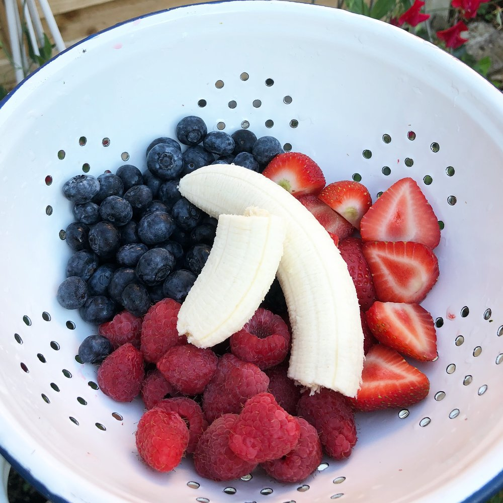 Healthy vegan protein fruit smoothie ice lollies recipe easy quick berries