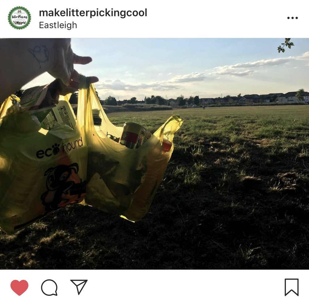 make litter picking cool sustainable plastic-free vegan eco