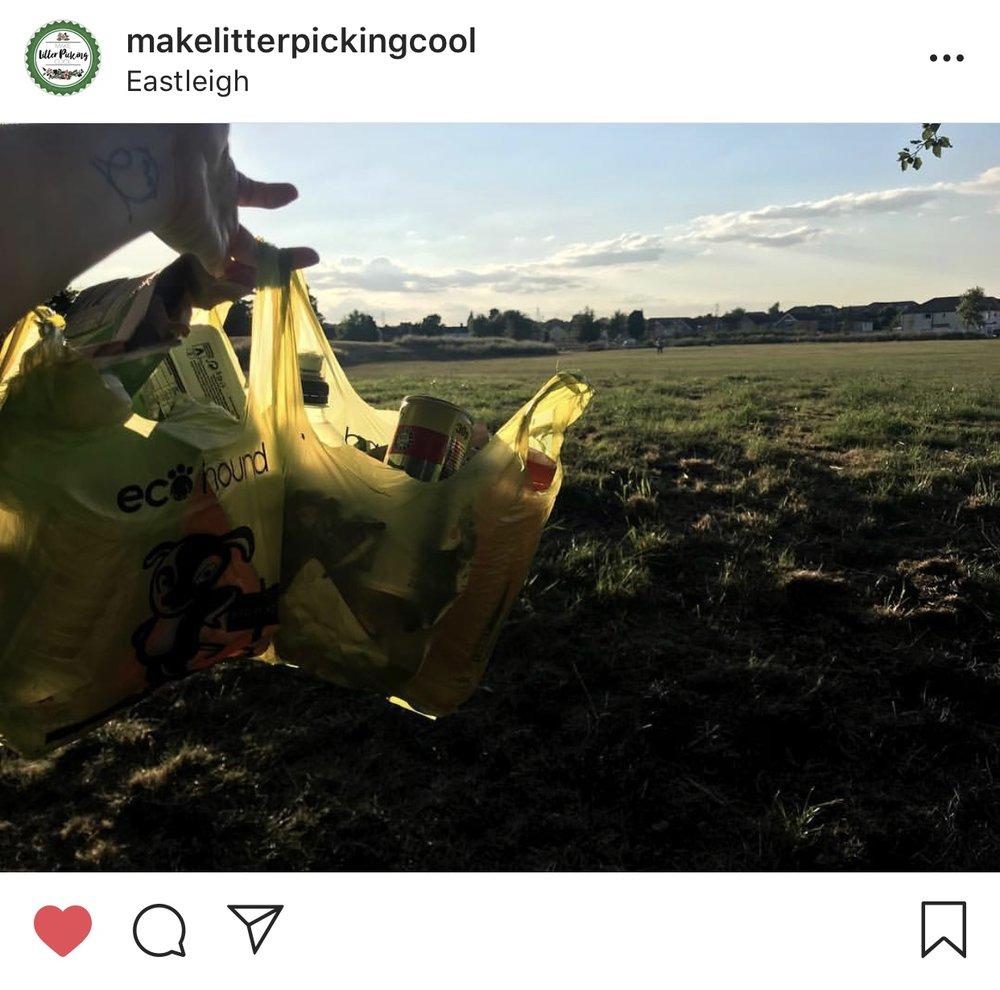 make litter picking cool sustainable plastic-free vegan eco