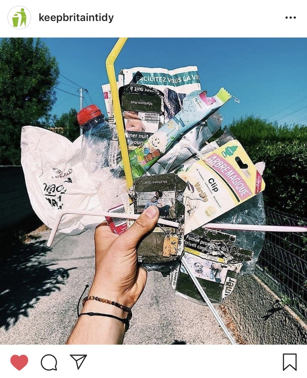 keep britain tidy litter pick picking sustainable eco vegan plastic-free