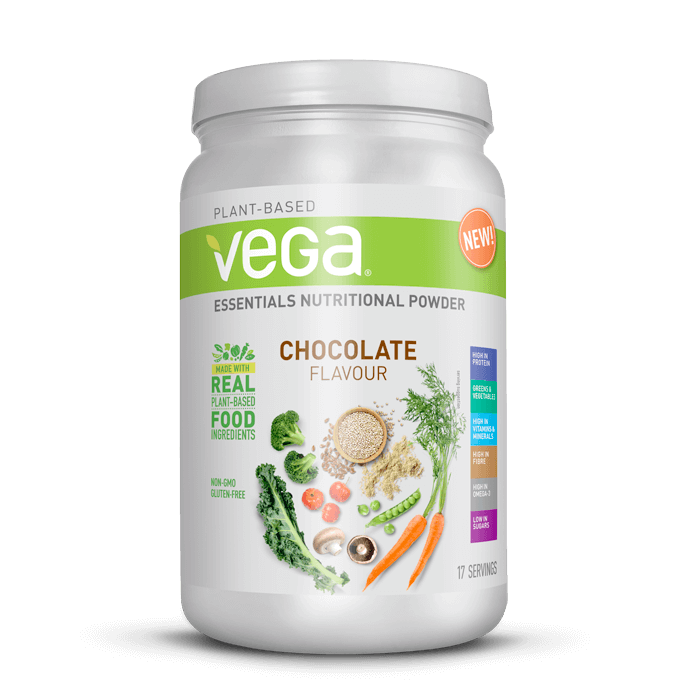 vega essentials protein shake vegan powder nutrition fitness competition