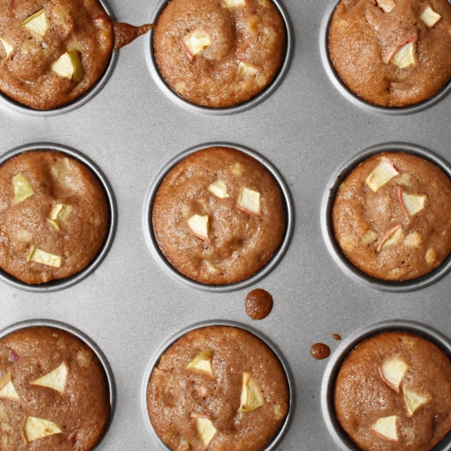 easy vegan apple muffins recipe