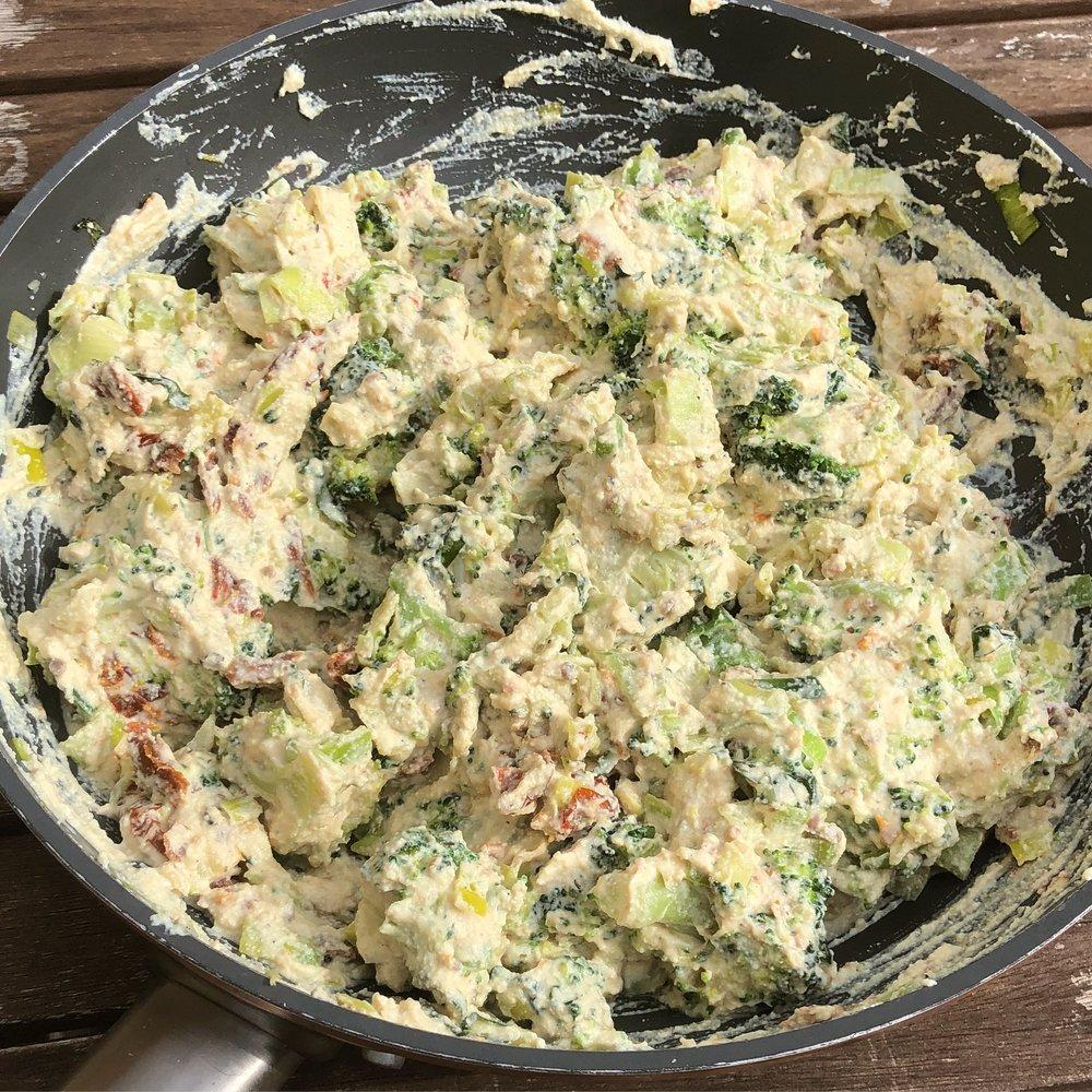easy vegan tofu and vegetable quiche recipe