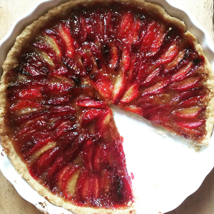 vegan plum tart recipe easy healthy quick