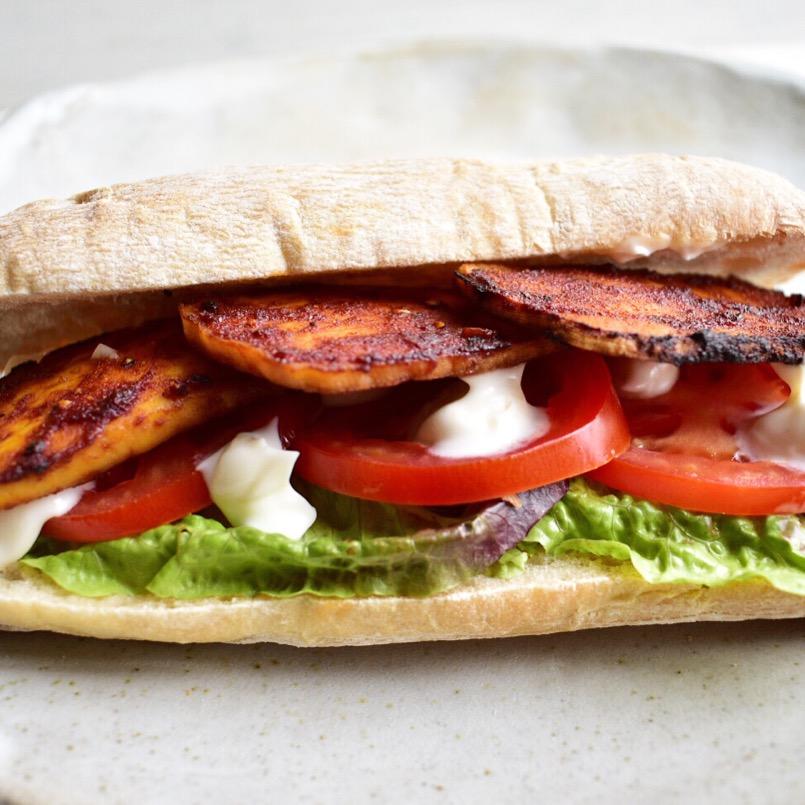 Vegan tofu bacon BLT recipe