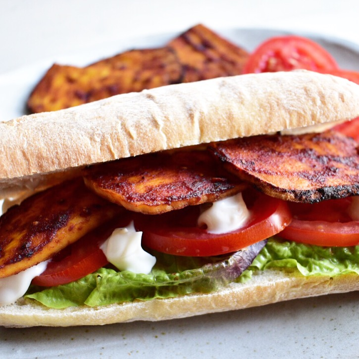 Vegan tofu bacon BLT recipe healthy