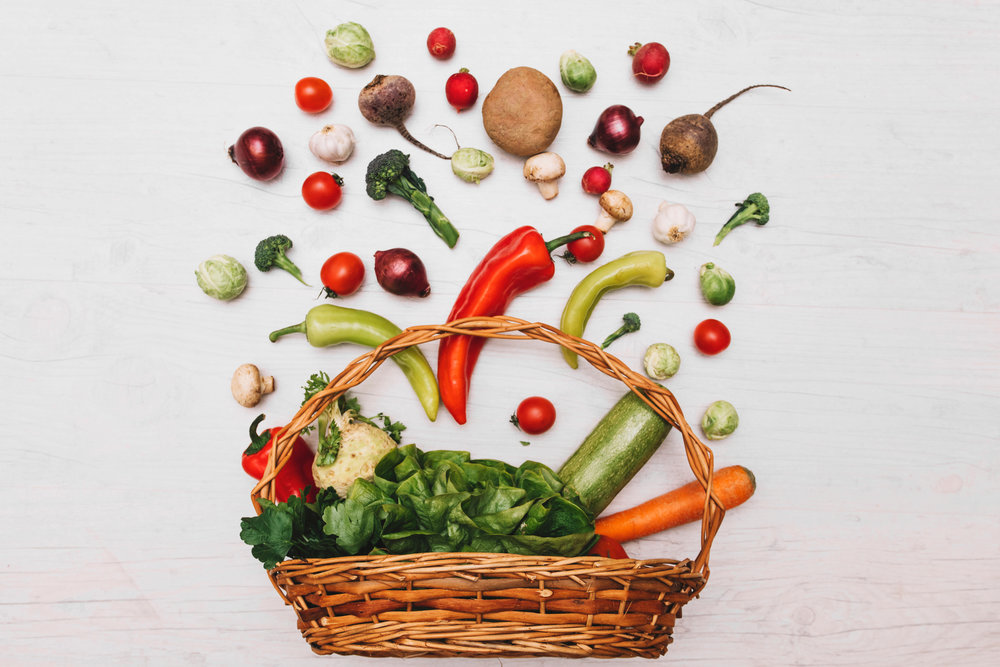 keeping a healthy immune system by eating lots of whole plant foods like fruit and vegetables - vegan and vegetarian nutrition