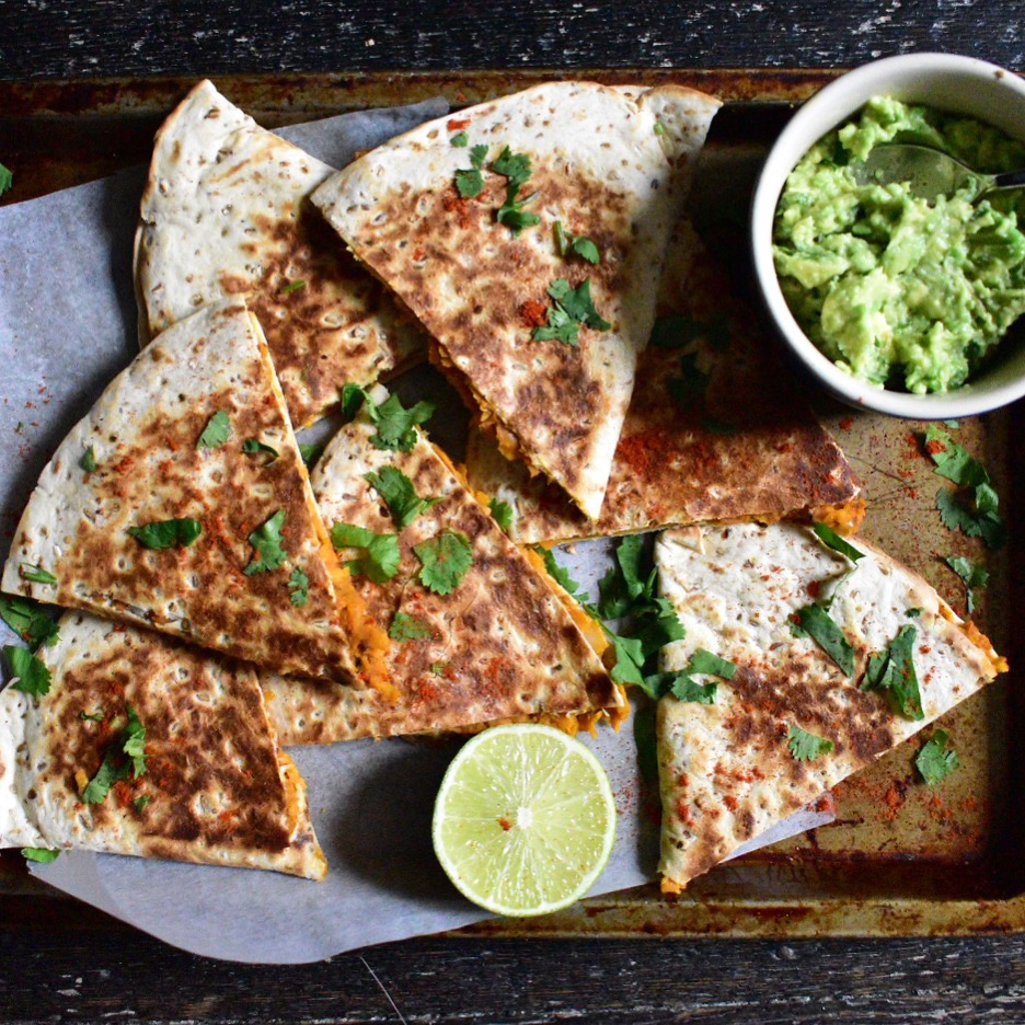 vegan sweet potato quesadillas recipe quick easy healthy vegetarian