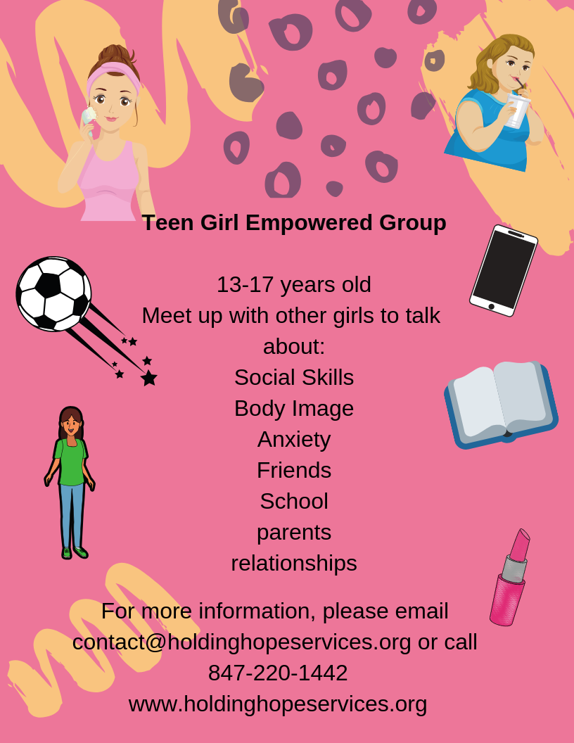 Empowered Teen Girl Group -