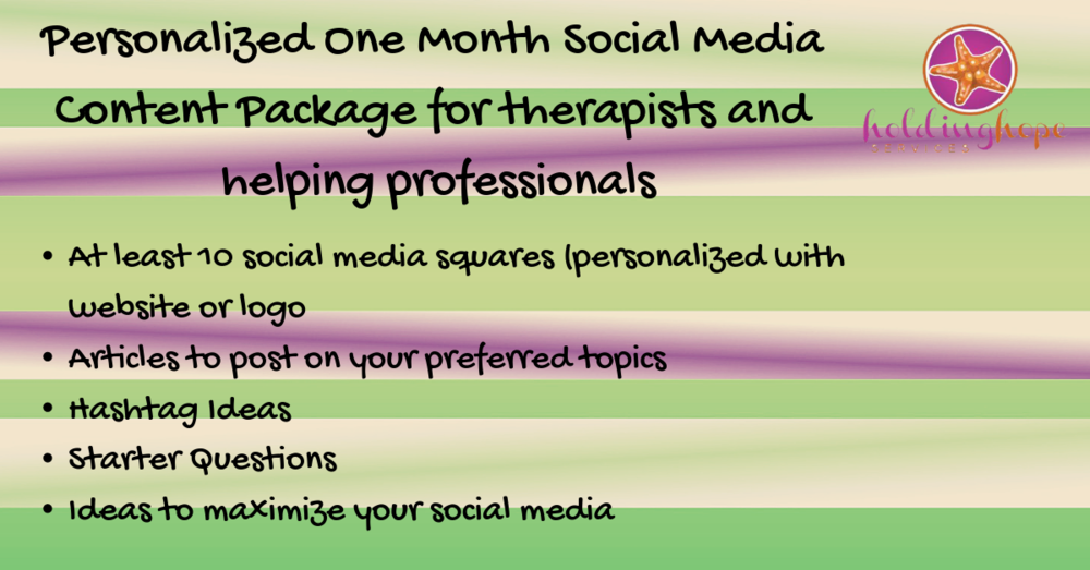 Social Media Content (1 Month) - 40.00 - 1 month of content