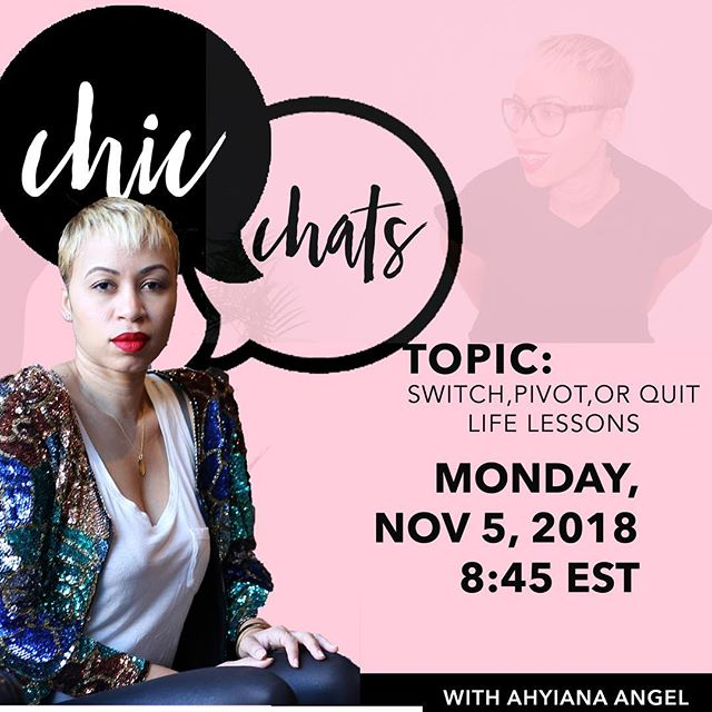 "Yes, another CHIC CHAT coming up!!!! Have you heard about our chic chats?! Literally, it's our girlfriend (or mama) time to catch up, learn and grow! They've been amazing! Here's the thing, it's for members only (we have digital membership too, so don't fret!) :: We're excited to have @ahyianaangel as our chic chat host next month, like extremely excited! @ahyianaangel will Be discussing what she's learned in creating a life on her own terms and the roadblocks that tend to get in most of our way! Perfect way to close out the 4th quarter!. :: Hit the link ""chic chat"" to check out this months replay of our chic chat to see how we roll! #CHICmom #mama #motherhood #empoweringwomen #stayCHIC #mamaswholift"