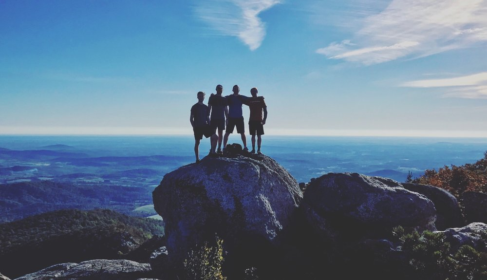 Some of our previous Fellows on top of Old Rag, Shenandoah National Park.