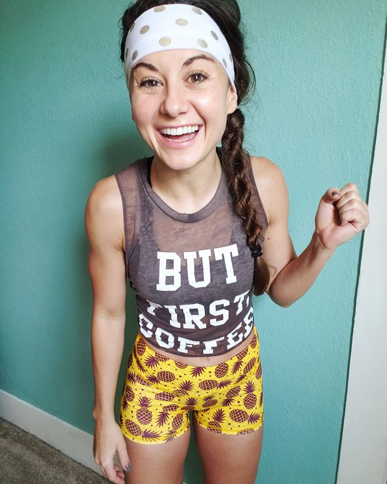 White Gold headband    (similar style) But First, coffee tank    CUTE PINEAPPLE SHORTS    GREY CHAMPION SNEAKERS