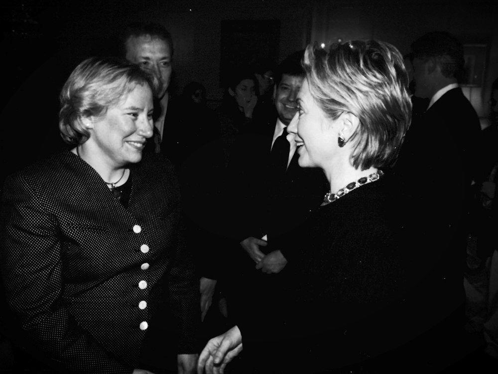 Dr. Ann Olivarius with Hillary Rodham Clinton