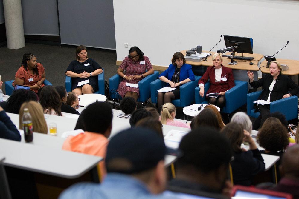 Dr Olivarius panel at the University of East London