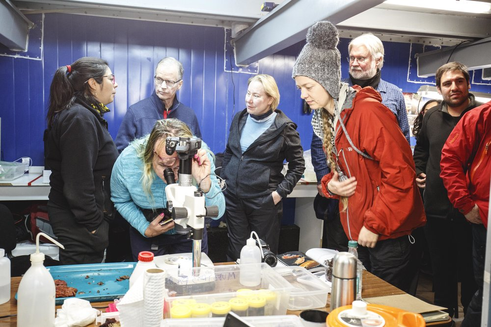Dr Olivarius at the Futures Congress excursion to Antarctica (photo credit Álvaro Soto Valle)