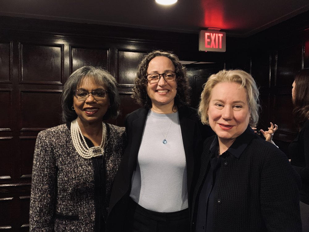 Dr Olivarius, pictured with Anita Hill and Catherine Lhamon, fellow recipients of YaleWomen's Lifetime Achievement Award